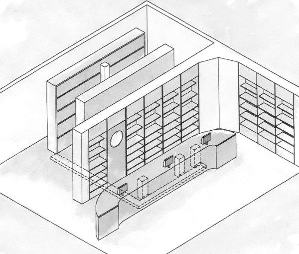 Modelli in farmacia del magazzino automatico prel va for Arredamento magazzino